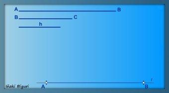 Romboide conocidos lados y altura 01