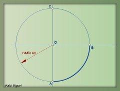 Rectificación de un cuadrante de circunferencia 00b