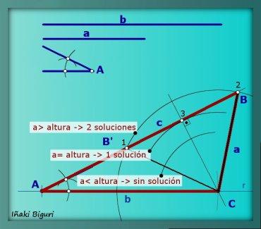Triángulo con dos lados y un ángulo 07