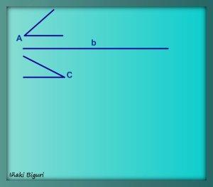 Triángulo con lado y ángulos adyacentes 00