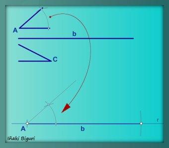 Triángulo con lado y ángulos adyacentes 03