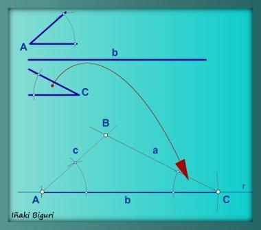 Triángulo con lado y ángulos adyacentes 04