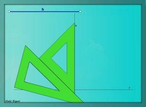 Triángulo equilátero. Conociendo la altura 02