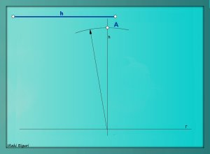 Triángulo equilátero. Conociendo la altura 03