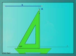 Triángulo equilátero. Conociendo la altura 04