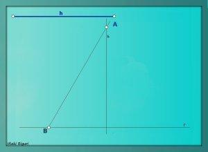 Triángulo equilátero. Conociendo la altura 05 b