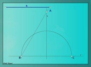 Triángulo equilátero. Conociendo la altura 06 b