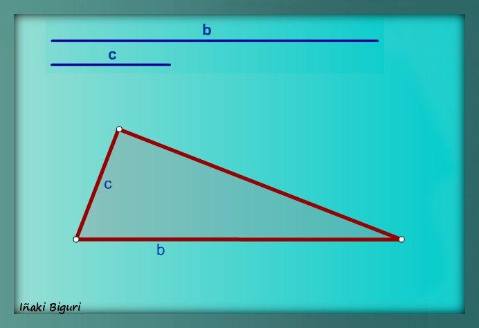 Triángulo rectángulo, conociendo la hipotenusa y un cateto