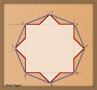 Estrella De 8 Puntas Dibujo Geométrico