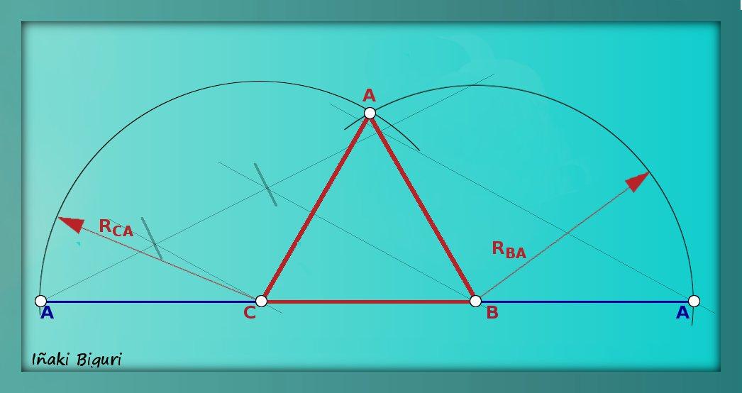 Triángulo equilátero, conociendo su perímetro